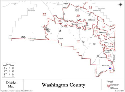 District map Washington County Oregon State Library