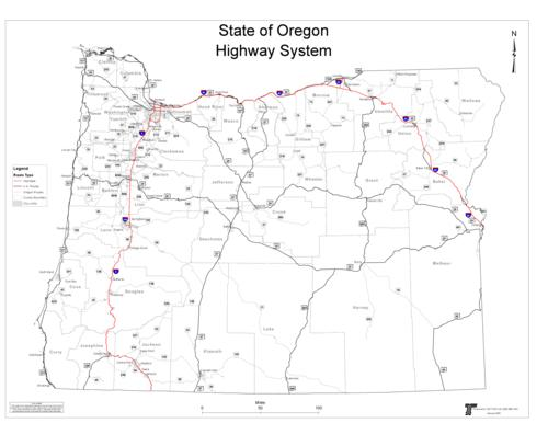 State of Oregon highway system Oregon State Library