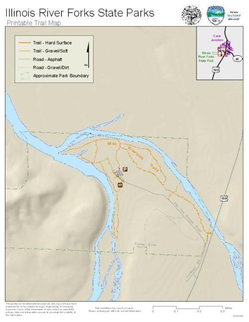 Illinois River Forks State Parks printable trail map Oregon State