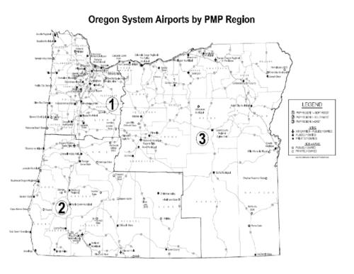 Oregon system airports by PMP region Oregon State Library