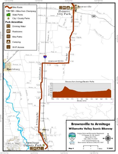 Willamette Valley Scenic Bikeway Brownsville to Armitage Map 4