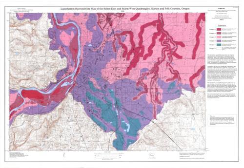 Relative earthquake hazard maps of the Salem east quadrangle and