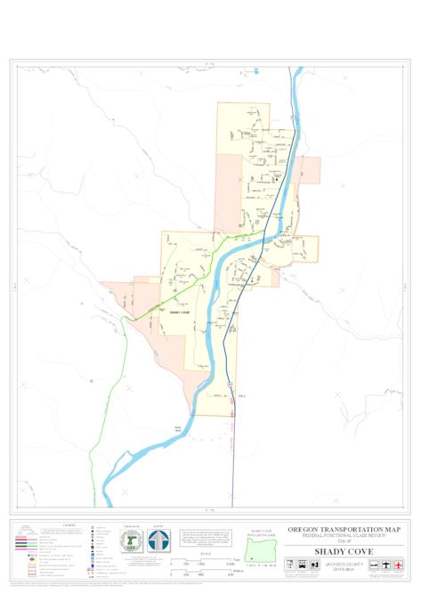Oregon transportation map Shady Cove Oregon State Library