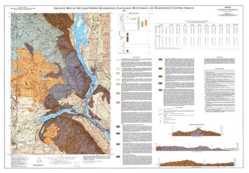 Geologic map of the Lake Oswego quadrangle Clackamas Multnomah