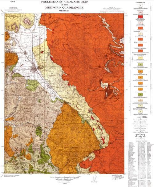 Preliminary geologic map of the Medford quadrangle Oregon Oregon