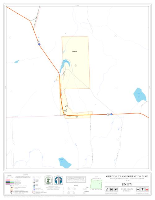 Oregon transportation map showing federal functional