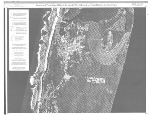 Erosion and flood hazard map of the Lincoln CityD River area