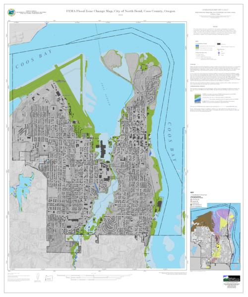 FEMA flood zone change map City of North Bend Coos County