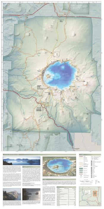 Crater Lake geologic guide and recreation map Oregon State Library