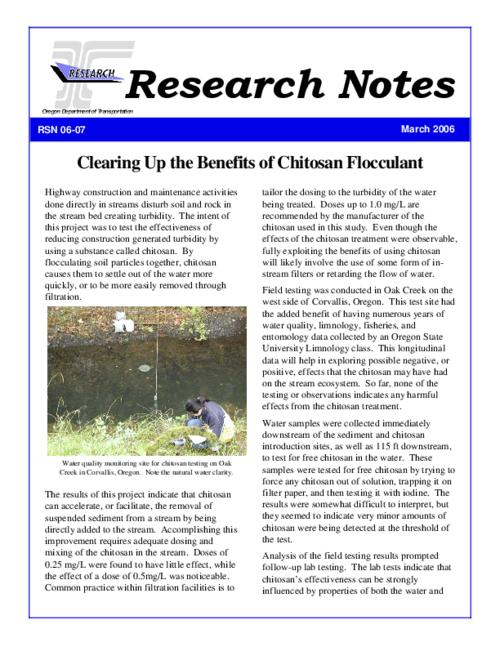 "This archived document is maintained by the Oregon State Library as part of the Oregon Documents Depository Program.  It is for informational purposes and may not be suitable for legal purposes., Title from PDF caption (viewed on Aug. 16, 2011), ""March 2006."", Mode of access: Internet from the Oregon Government Publications Collection."