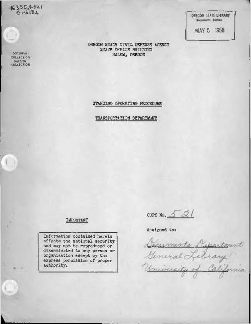 Mimeographed., Title from PDF cover (viewed on October 26, 2017)., This archived document is maintained by the State Library of Oregon as part of the Oregon Documents Depository Program. It is for informational purposes and may not be suitable for legal purposes., Mode of access: Internet from the Oregon Government Publications Collection., Text in English.