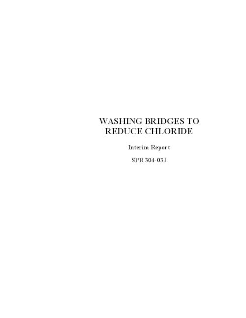 "This archived document is maintained by the Oregon State Library as part of the Oregon Documents Depository Program.  It is for informational purposes and may not be suitable for legal purposes., ""December 2003."", OrDocs shipping list 2004-04, Includes bibliographical references (p. 13), Performed in association with the Federal Highway Administration under contract no. SPR 304-031, Mode of access: Internet from the Oregon Government Publications Collection., Interim report"