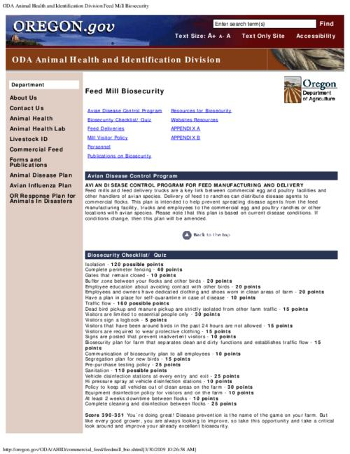 "This archived document is maintained by the Oregon State Library as part of the Oregon Documents Depository Program.  It is for informational purposes and may not be suitable for legal purposes., Title from PDF caption (viewed on July 5, 2011), Converted from HTML, ""Page updated: December 10, 2007."", Mode of access: Internet from the Oregon Government Publications Collection."