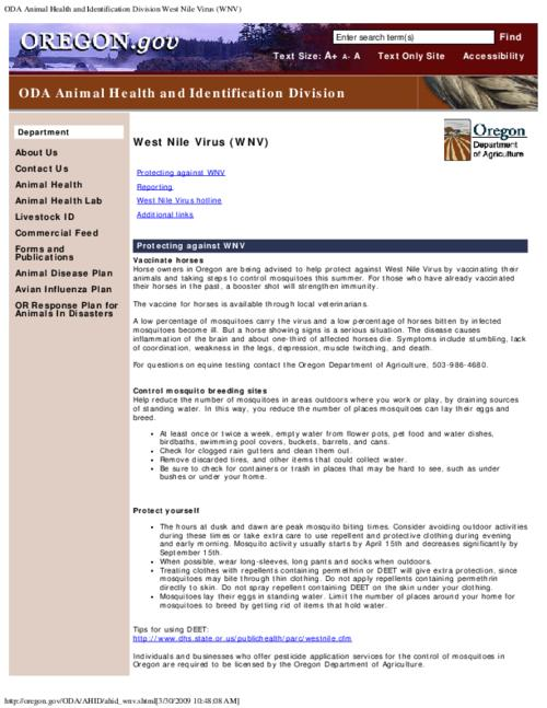 "This archived document is maintained by the Oregon State Library as part of the Oregon Documents Depository Program.  It is for informational purposes and may not be suitable for legal purposes., Title from PDF caption (viewed on Sept. 9, 2011), Converted from HTML, ""Page updated: March 16, 2009""--P. [2], Mode of access: Internet from the Oregon Government Publications Collection."