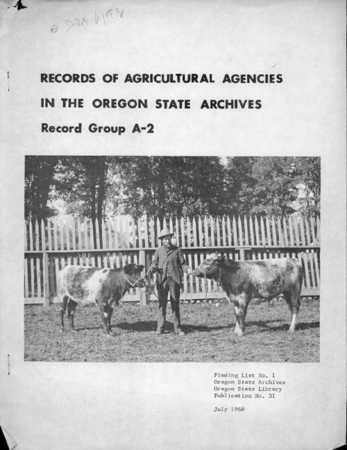 """July 1968."", Title from PDF cover (viewed on November 14, 2017)., This archived document is maintained by the State Library of Oregon as part of the Oregon Documents Depository Program. It is for informational purposes and may not be suitable for legal purposes., Mode of access: Internet from the Oregon Government Publications Collection., Text in English."
