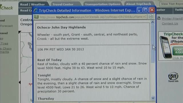 Ask ODOT: can I get weather information on Tripcheck.com?, Ask Oregon Department...