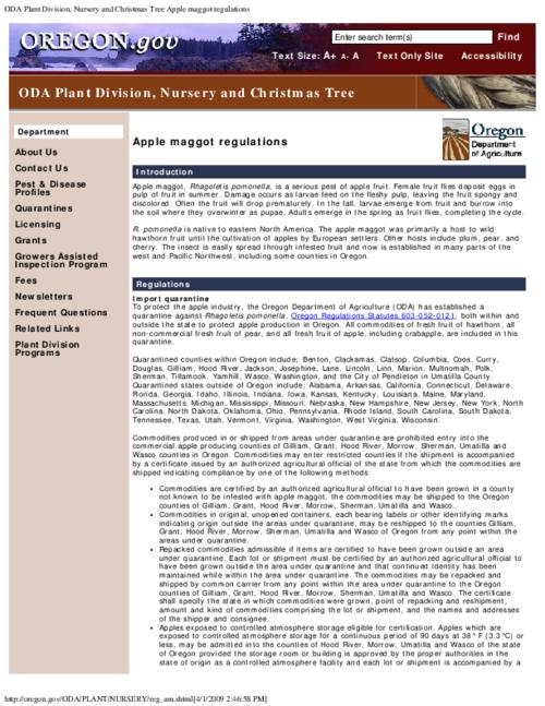 "This archived document is maintained by the Oregon State Library as part of the Oregon Documents Depository Program.  It is for informational purposes and may not be suitable for legal purposes., Title from PDF caption (viewed on Sept. 9, 2011), Converted from HTML, ""Page updated: December 16, 2008""--P. [3], Mode of access: Internet from the Oregon Government Publications Collection."