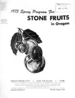 ... spray program for stone fruits in Oregon