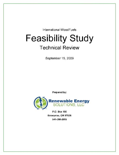 [pt. 2]. International WoodFuels feasibility study technical review / prepared by Renewable Energy Solutions (Sept. 15, 2009) -- [pt. 1]. Baker County biomass supply estimate -- [pt. 3]. International WoodFuels product & market assessment / prepared by Renewable Energy Solutions (Oct. 14, 2009) -- [summary]. International WoodFuels feasibility study synthesis / prepared by Renewable Energy Solutions (Jan. 23, 2010)., Title supplied by cataloger., Three-part study (part 1 is included in an appendix to part 2)., This archived document is maintained by the State Library of Oregon as part of the Oregon Documents Depository Program. It is for informational purposes and may not be suitable for legal purposes., Funded by a CREF grant from the Oregon Dept. of Energy, Mode of access: Internet from the Oregon Government Publications Collection., Text in English.