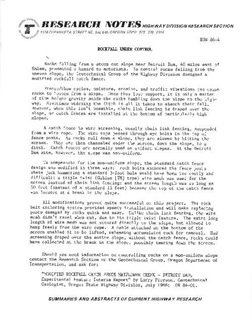 This archived document is maintained by the Oregon State Library as part of the Oregon Documents Depository Program.  It is for informational purposes and may not be suitable for legal purposes., Title from PDF caption (viewed on May 27, 2011), Mode of access: Internet from the Oregon Government Publications Collection.