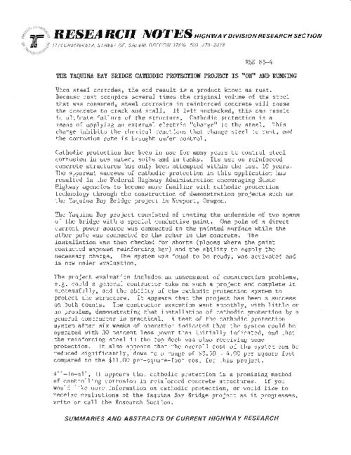 This archived document is maintained by the Oregon State Library as part of the Oregon Documents Depository Program.  It is for informational purposes and may not be suitable for legal purposes., Title from PDF caption (viewed on May 26, 2011), Mode of access: Internet from the Oregon Government Publications Collection.