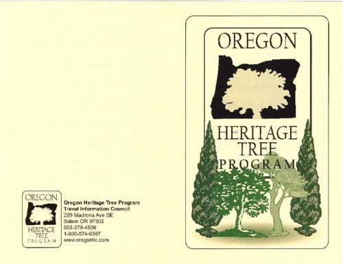 "Title from PDF cover (viewed on January 18, 2018)., ""Friday, April 9, 2004 at 1:00 pm, Historic Flavel House."", Program for the dedication ceremony of the Captain Flavel trees., This archived document is maintained by the State Library of Oregon as part of the Oregon Documents Depository Program. It is for informational purposes and may not be suitable for legal purposes., Mode of access: Internet from the Oregon Government Publications Collection., Text in English."