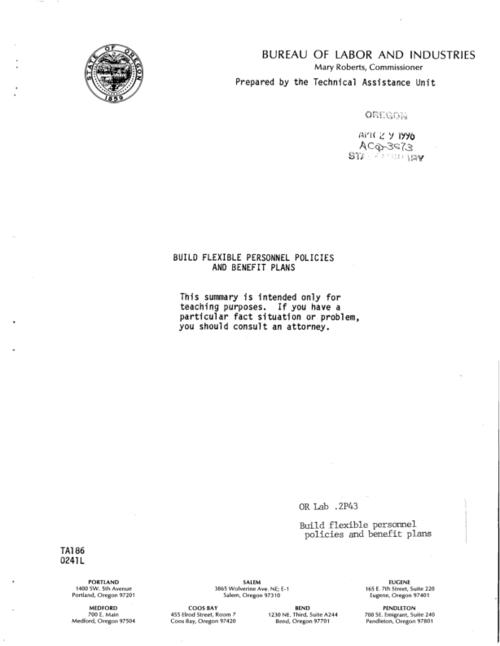 Cover title., This archived document is maintained by the State Library of Oregon as part of the Oregon Documents Depository Program. It is for informational purposes and may not be suitable for legal purposes., Also available online at the Oregon Documents Repository.