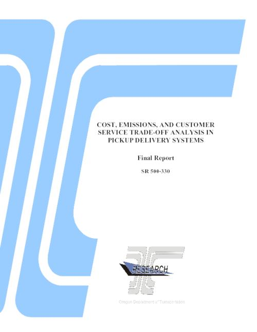 "This research offers a novel formulation for including emissions into fleet assignment and vehicle routing, and for the trade-offs faced by fleet operators between cost, emissions, and service quality., Title from PDF title page., ""May 2011."", ""OR-RD 11-13""--Technical report documentation page., This archived document is maintained by the State Library of Oregon as part of the Oregon Documents Depository Program. It is for informational purposes and may not be suitable for legal purposes., Includes bibliographical references (pages 67-69)., Also available online at the Oregon Documents Repository., Sponsored by Oregon Dept. of Transportation, Research Section; Federal Highway Administration SR 500-330, System requirements: Adobe Acrobat Reader; CD-ROM drive., Final report."