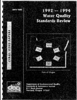 1992-1994 water quality standards review: final issue papers, Water quality...