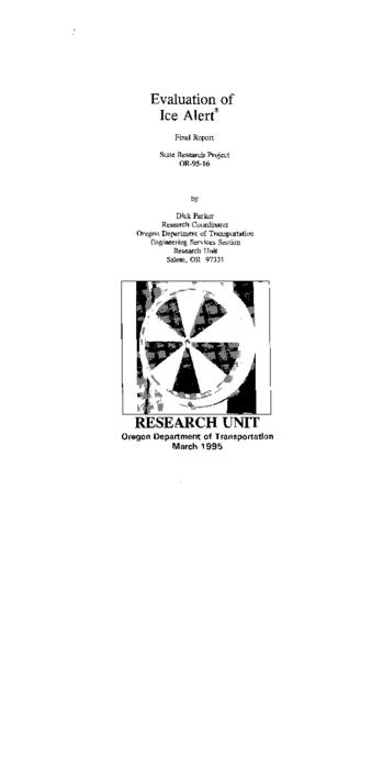 "This archived document is maintained by the Oregon State Library as part of the Oregon Documents Depository Program.  It is for informational purposes and may not be suitable for legal purposes., ""March 1995."", ""State Research Project, OR-95-16."", Mode of access: Internet from the Oregon Government Publications Collection."