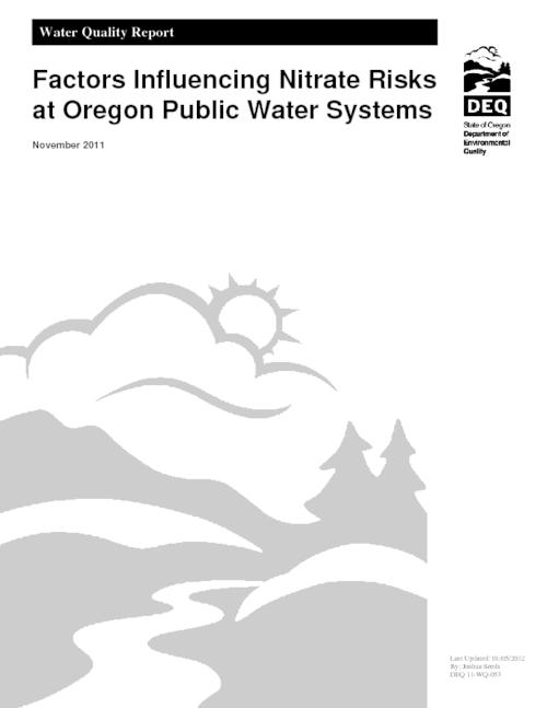 "Title from PDF cover (viewed on February 20, 2018)., ""DEQ 11-WQ-053."", This archived document is maintained by the State Library of Oregon as part of the Oregon Documents Depository Program. It is for informational purposes and may not be suitable for legal purposes., Includes bibliographical references (pages 28-30)., Mode of access: Internet from the Oregon Government Publications Collection., Text in English."