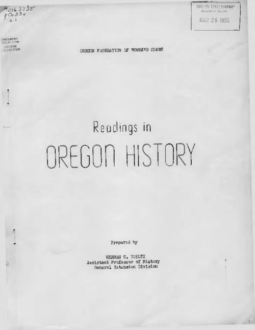 Title from PDF cover (viewed on February 21, 2018)., This archived document is maintained by the State Library of Oregon as part of the Oregon Documents Depository Program. It is for informational purposes and may not be suitable for legal purposes., Mode of access: Internet from the Oregon Government Publications Collection., Text in English.