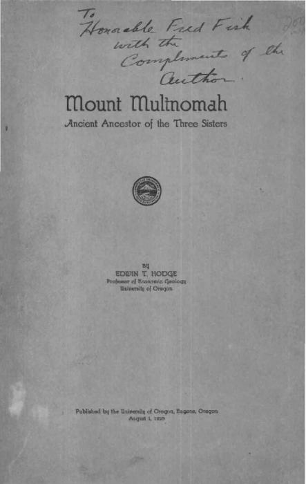 The Cascade Plateau -- History of the Cascade Plateau -- History of Mount Multnomah summarized -- Climate -- Flora and fauna of the Tree Sisters -- Accessibility., This archived document is maintained by the State Library of Oregon as part of the Oregon Documents Depository Program. It is for informational purposes and may not be suitable for legal purposes., Includes bibliographical references (pages 157-158) and index., Electronic reproduction. [S.l.] : HathiTrust Digital Library, 2010. MiAaHDL, Master and use copy. Digital master created according to Benchmark for Faithful Digital Reproductions of Monographs and Serials, Version 1. Digital Library Federation, December 2002. http://purl.oclc.org/DLF/benchrepro0212 MiAaHDL, digitized 2010 HathiTrust Digital Library committed to preserve pda MiAaHDL