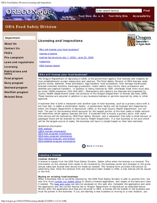"This archived document is maintained by the Oregon State Library as part of the Oregon Documents Depository Program.  It is for informational purposes and may not be suitable for legal purposes., Title from PDF caption (viewed on Nov. 29, 2011), Converted from HTML, ""Page updated: May 08, 2008""--P. [7], Mode of access: Internet from the Oregon Government Publications Collection."