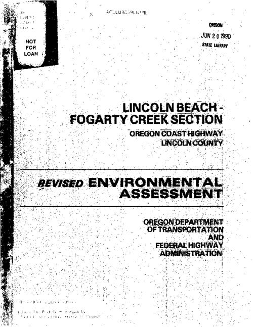 "This archived document is maintained by the Oregon State Library as part of the Oregon Documents Depository Program.  It is for informational purposes and may not be suitable for legal purposes., ""Jun 12, 1989""--Cover letter, Title from cover, Mode of access: Internet from the Oregon Government Publications Collection."