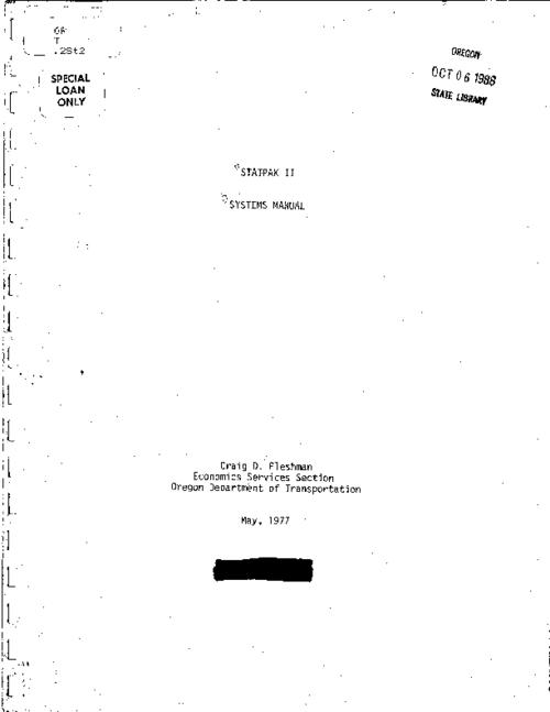 "This archived document is maintained by the Oregon State Library as part of the Oregon Documents Depository Program.  It is for informational purposes and may not be suitable for legal purposes., ""May 1977."", Title from cover, Mode of access: Internet from the Oregon Government Publications Collection."