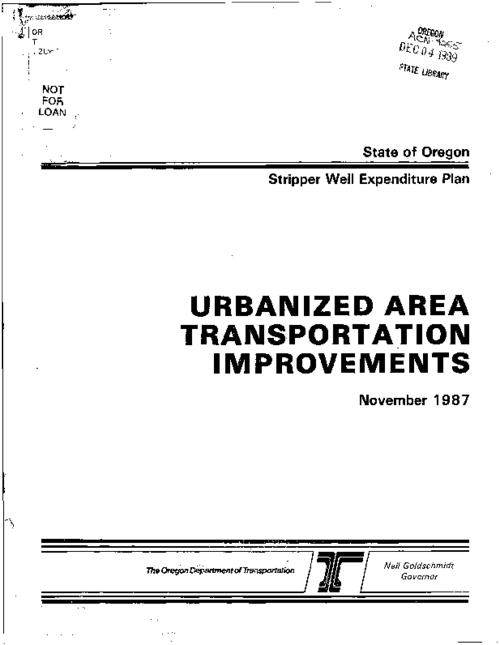 "This archived document is maintained by the Oregon State Library as part of the Oregon Documents Depository Program.  It is for informational purposes and may not be suitable for legal purposes., ""November, 1987."", Includes bibliographical references, Mode of access: Internet from the Oregon Government Publications Collection."