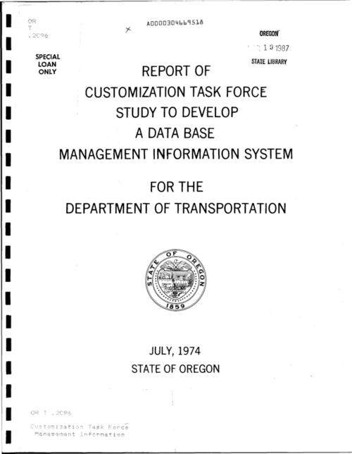 "This archived document is maintained by the Oregon State Library as part of the Oregon Documents Depository Program.  It is for informational purposes and may not be suitable for legal purposes., ""June 1974."", Mode of access: Internet from the Oregon Government Publications Collection."