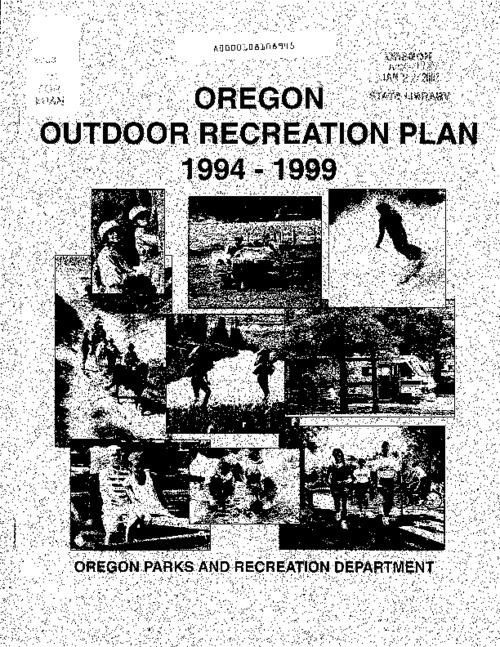 "This archived document is maintained by the Oregon State Library as part of the Oregon Documents Depository Program.  It is for informational purposes and may not be suitable for legal purposes., ""December 1, 1994."", Commonly known as: SCORP, Statewide Comprehensive Outdoor Recreation Plan, Mode of access: Internet from the Oregon Government Publications Collection."