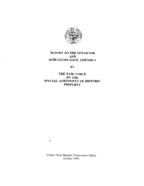 "This archived document is maintained by the Oregon State Library as part of the Oregon Documents Depository Program.  It is for informational purposes and may not be suitable for legal purposes., ""October 1992."", Title from cover, Includes bibliographical references, Mode of access: Internet from the Oregon Government Publications Collection."