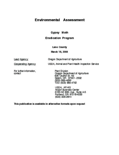 "This archived document is maintained by the Oregon State Library as part of the Oregon Documents Depository Program.  It is for informational purposes and may not be suitable for legal purposes., Title from PDF title page (viewed on May 24, 2010), ""March 18, 2004."", Includes bibliographical references (p. 28-31), Mode of access: Internet from the Oregon Government Publications Collection."