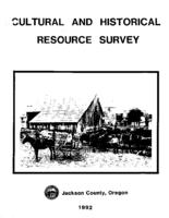 Jackson County cultural and historical resource survey, Cultural and historical...