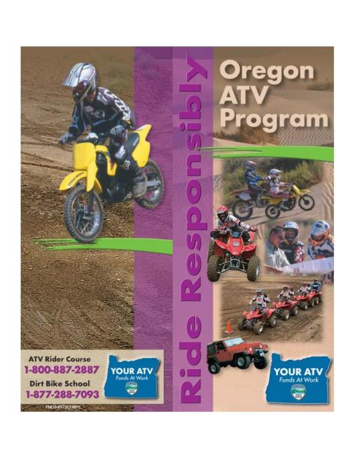 "This archived document is maintained by the Oregon State Library as part of the Oregon Documents Depository Program.  It is for informational purposes and may not be suitable for legal purposes., Title from cover, ""(11/01)""--Back cover, ""Ride responsibly""--Sidebar, OrDocs shipping list 2003-13, Mode of access: Internet from the Oregon Government Publications Collection."