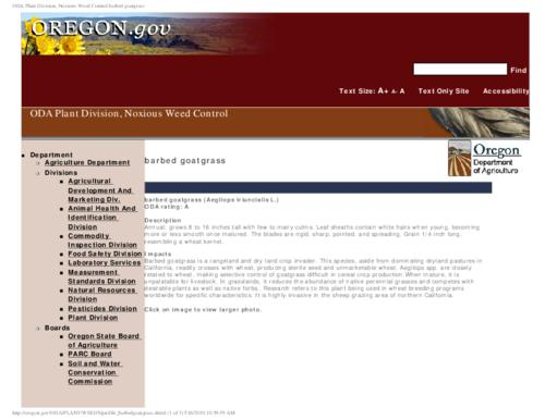 "This archived document is maintained by the Oregon State Library as part of the Oregon Documents Depository Program.  It is for informational purposes and may not be suitable for legal purposes., Title from PDF caption (viewed on Aug. 18, 2010), Part of the series Oregon state noxious weed list, Converted from HTML, ""June 15, 2009."", Mode of access: Internet from the Oregon Government Publications Collection."