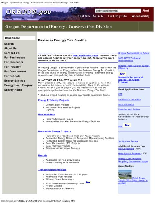 "This archived document is maintained by the Oregon State Library as part of the Oregon Documents Depository Program.  It is for informational purposes and may not be suitable for legal purposes., Title from PDF caption (viewed on May 30, 2014), Converted from HTML, ""Page updated: March 31, 2009""--Page 3, Mode of access: Internet from the Oregon Government Publications Collection., Text in English"