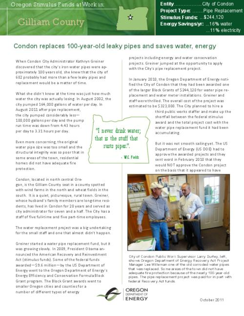 "This archived document is maintained by the Oregon State Library as part of the Oregon Documents Depository Program.  It is for informational purposes and may not be suitable for legal purposes., Title from PDF caption (viewed on Jan. 31, 2013), ""October 2011."", Mode of access: Internet from the Oregon Government Publications Collection."