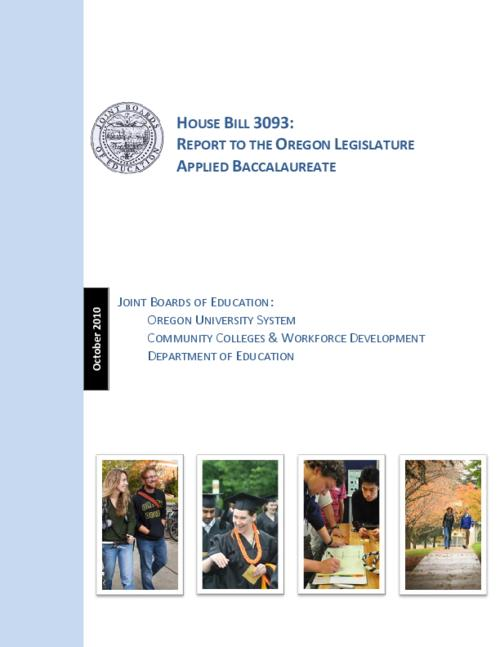 This archived document is maintained by the Oregon State Library as part of the Oregon Documents Depository Program.  It is for informational purposes and may not be suitable for legal purposes., Title from PDF cover (viewed on June 8, 2015)., Includes bibliographical references., Mode of access: Internet from the Oregon Government Publications Collection., Text in English.