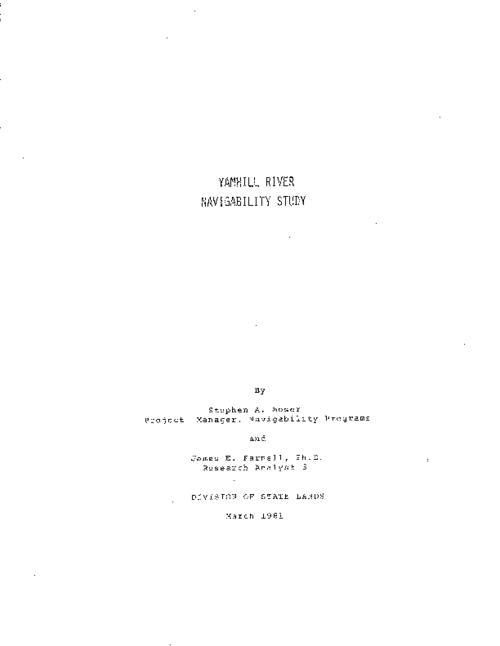 "This archived document is maintained by the Oregon State Library as part of the Oregon Documents Depository Program.  It is for informational purposes and may not be suitable for legal purposes., ""March 1981."", Includes bibliographical references (p. [58-62]), Mode of access: Internet from the Oregon Government Publications Collection."