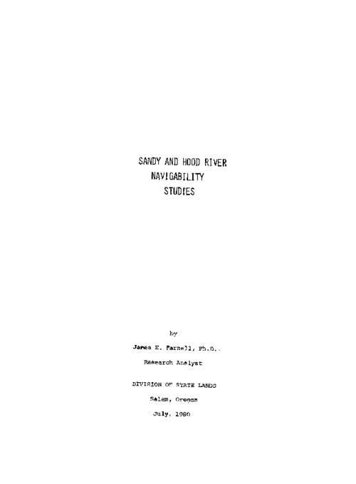 "This archived document is maintained by the Oregon State Library as part of the Oregon Documents Depository Program.  It is for informational purposes and may not be suitable for legal purposes., Title from PDF cover (viewed on Dec. 10, 2010), ""July 1980."", Includes bibliographical references (p. [55]-[58]), Mode of access: Internet from the Oregon Government Publications Collection."
