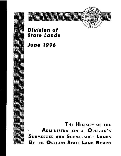 "This archived document is maintained by the Oregon State Library as part of the Oregon Documents Depository Program.  It is for informational purposes and may not be suitable for legal purposes., Title from cover, ""June 1996."", Mode of access: Internet from the Oregon Government Publications Collection."